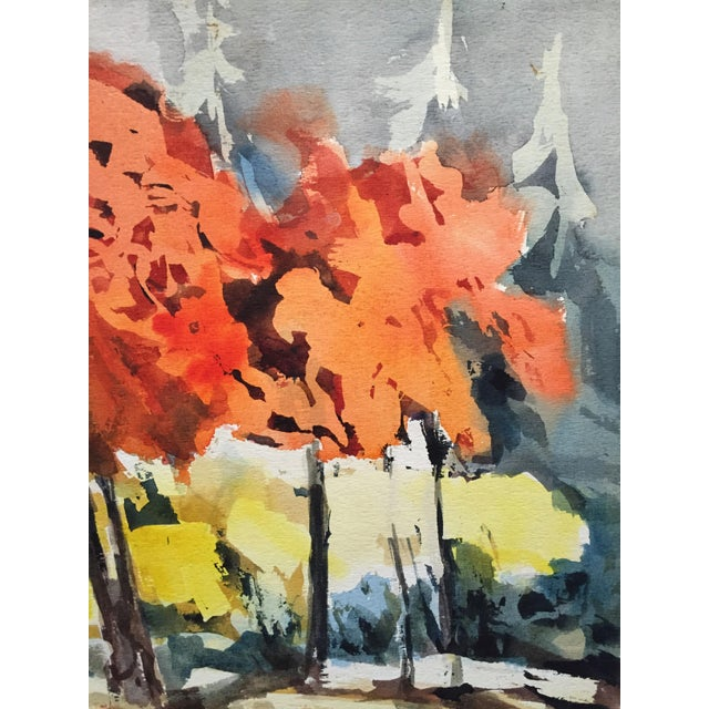 Thelma Moody 1960's Double-Sided Gouache Landscape - Image 3 of 7