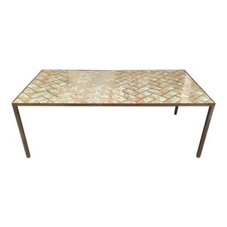 Modern Large Mother-Of-Pearl Coffee Table For Sale