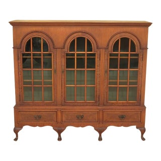 Flint & Horner Vintage George III Style Walnut 3 Door Bookcase For Sale
