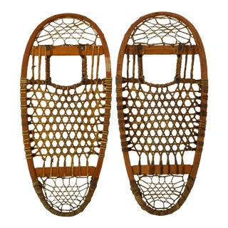1940s Vintage Snowshoes From Early 19th Century - a Pair For Sale