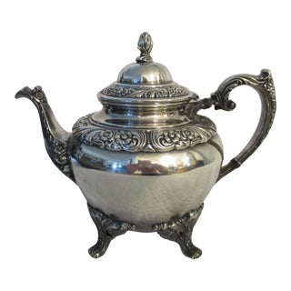 Heritage 1847 Rogers Bros. Is 9402 Silver Plate Teapot For Sale