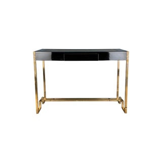 Romeo Rega Brass Writing Table For Sale