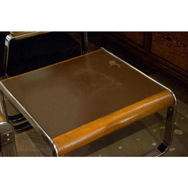 Midcentury Chrome and Mohair Loveseat, Chair and Table Set, 1960s For Sale - Image 10 of 11