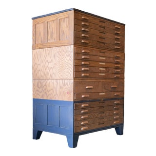 18-Drawer Hamilton Flat Filing Chest For Sale