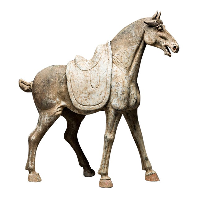 Tang Sculpture of a Horse With Removable Saddle For Sale