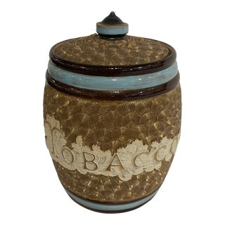 Late 19th Century English Tobacco Container For Sale