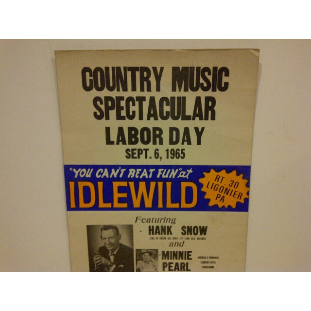 Rustic 1965 Vintage Country Music Concert Poster For Sale - Image 3 of 6