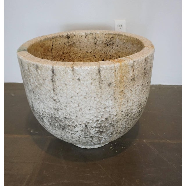 Mid-Century Modern Crackled Glaziers Crucible For Sale - Image 3 of 8