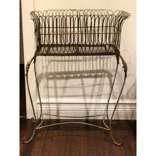 19th Century French Footed Metal Planter Basket Preview