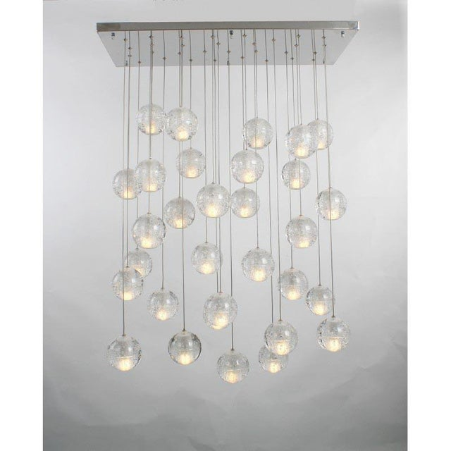 Modern Meteor Shower Chandelier For Sale - Image 4 of 11