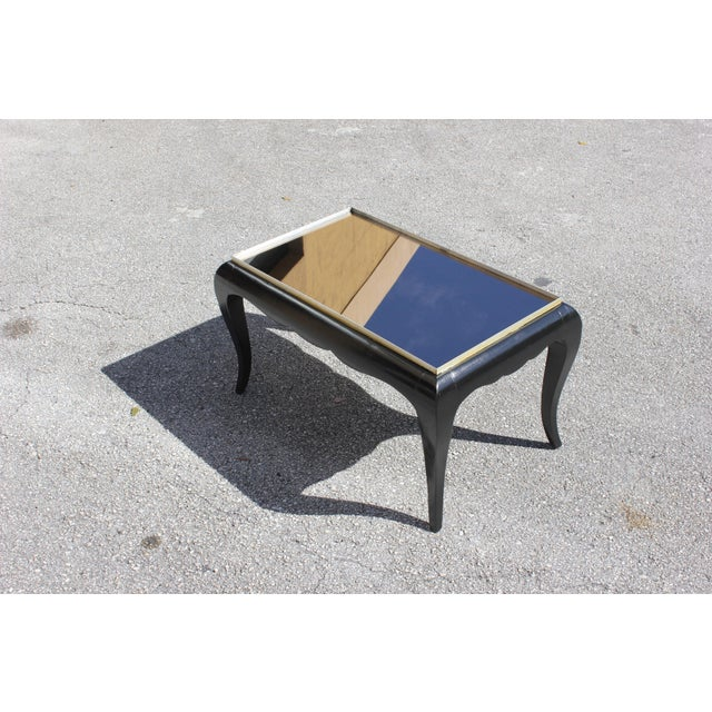 1940s French Art Deco Ebonized Coffee Table For Sale - Image 13 of 13
