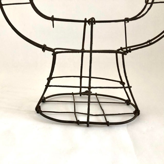 Black 1950s Vintage Wire Topiary in the Shape of a Lyre For Sale - Image 8 of 13