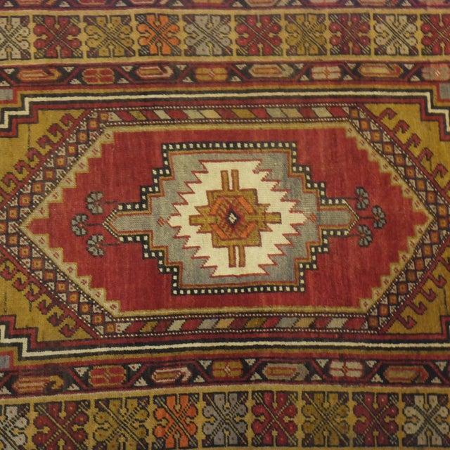 """Islamic Anatolian Oushak Rug - 6'7"""" x 3'9"""" For Sale - Image 3 of 5"""