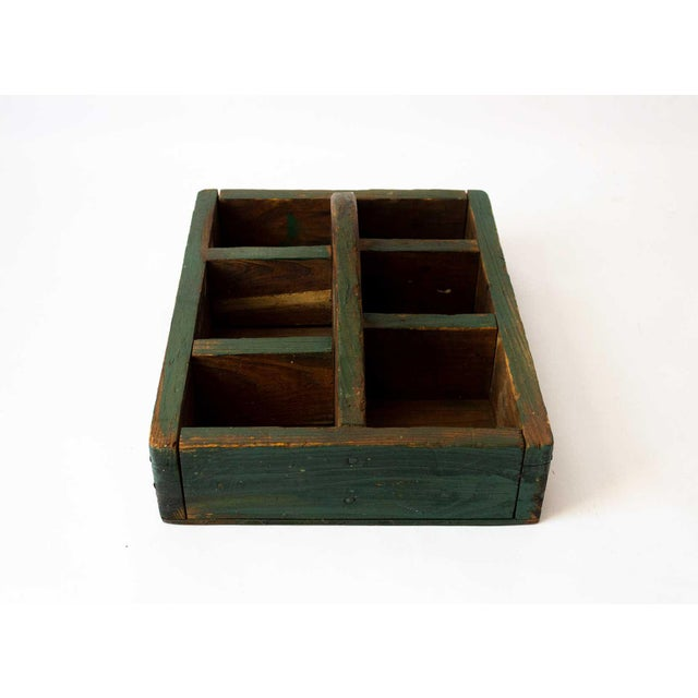 1940s Rustic Forest Green Berry Carrier For Sale - Image 5 of 8