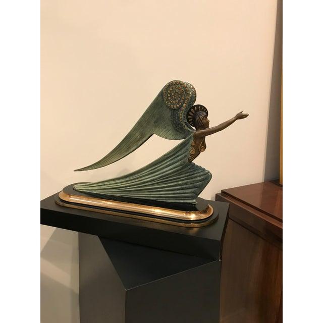 "1984 Erte Ltd Ed ""Angel"" Bronze Sculpture by Romain De Tirtoff For Sale - Image 4 of 13"