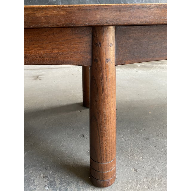 1960s Mid Century Solid Teak Bench For Sale - Image 5 of 11