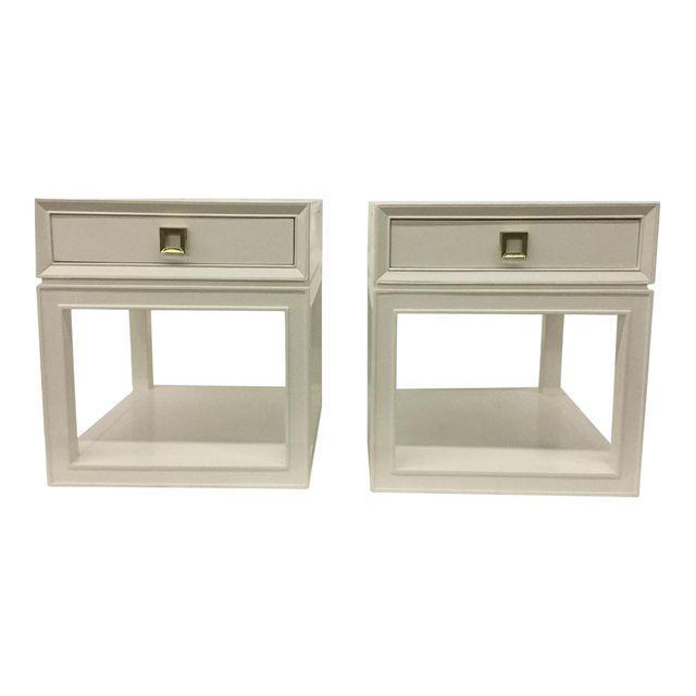 "Somerset Bay ""Malibu Loft"" Single Drawer White Side Table For Sale - Image 4 of 6"