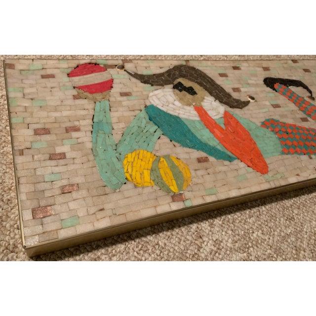 Vintage Harlequin Jester Tile Mosaic Wall Hanging For Sale - Image 9 of 12