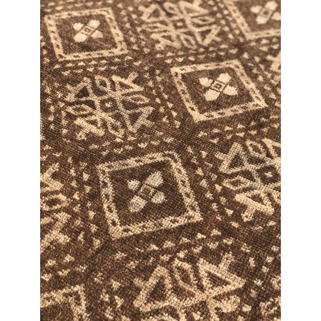"Brown Vintage Baluchi Rug - 3'4"" x 6'10"" For Sale - Image 8 of 11"