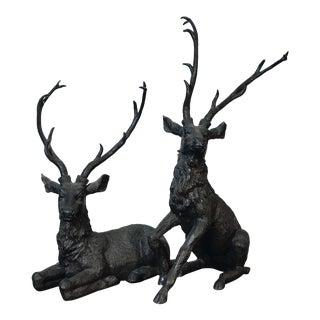 Vintage Deer Statues - a Pair For Sale