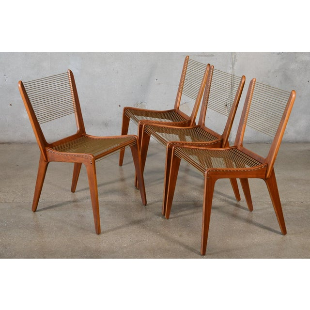 Jacques Guillou Modern String Chairs - Set of 4 - Image 2 of 8