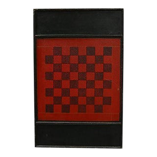 19th-C. Americana Chess & Checker Board For Sale