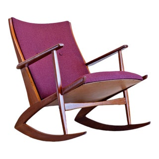 1950s Vintage Danish Modern Georg Jensen Model 97 Rocking Chair For Sale