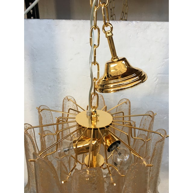 Venini Style Murano Glass Chandelier For Sale - Image 10 of 12