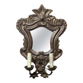 Italian Mirrored Wall Sconce For Sale
