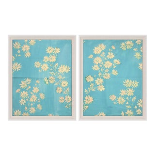 Paule Marrot, Marguerites, Set Of 2, Framed Artwork For Sale