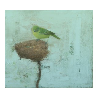 "Van Cleve Contemporary Wildlife Painting ""Green Bird"" For Sale"