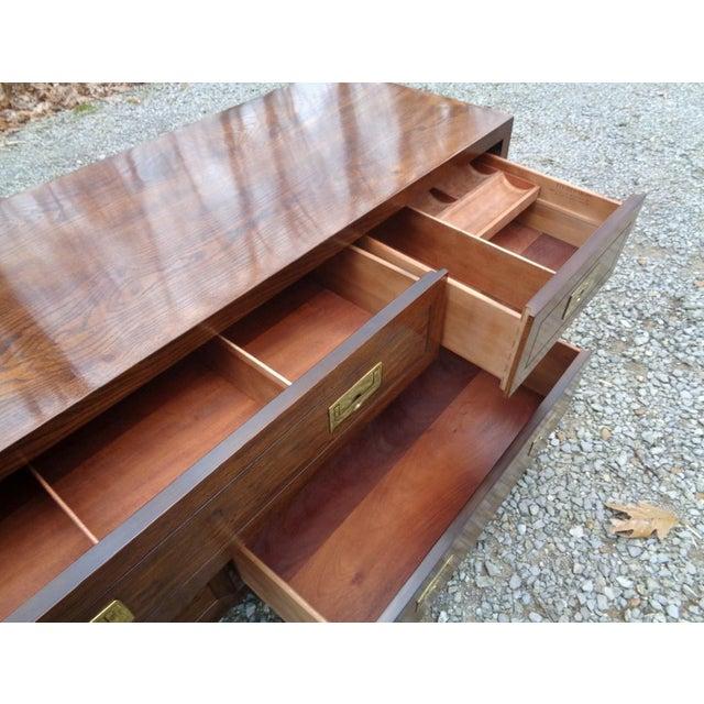 Vintage Henredon Campaign Oak Dresser Chest of Drawers For Sale - Image 11 of 13