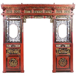 Chinese Opium Wedding Bed Intricately Carved Panel For Sale