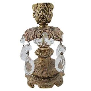 Baroque Style Brass Candleholder