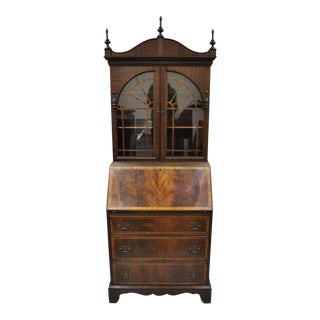20th Century Chippendale Mahogany Secretary Desk For Sale