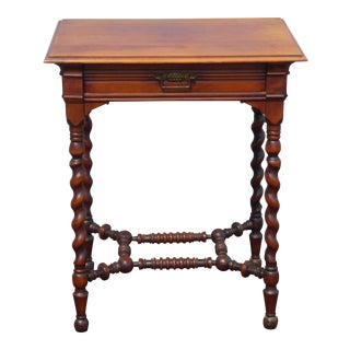 Antique French Provincial Barley Twist Side Table French Country For Sale
