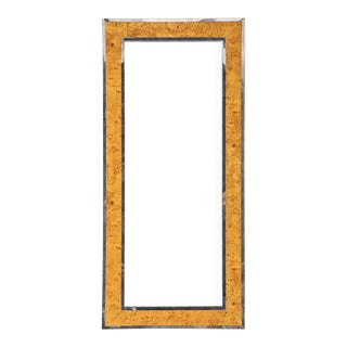 "Burled Wood ""Fulton"" Floor Mirror For Sale"