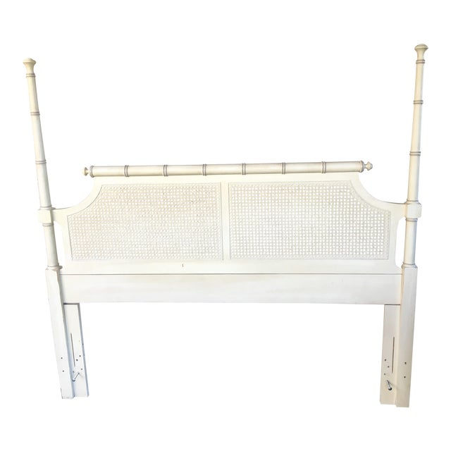 Mid-Century Caned Queen Headboard - Image 1 of 6