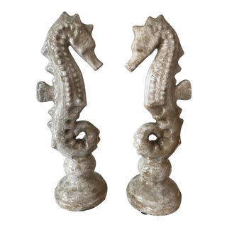 Ceramic Seahorses - a Pair