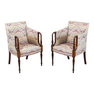 Empire Style Club Chairs - a Pair For Sale