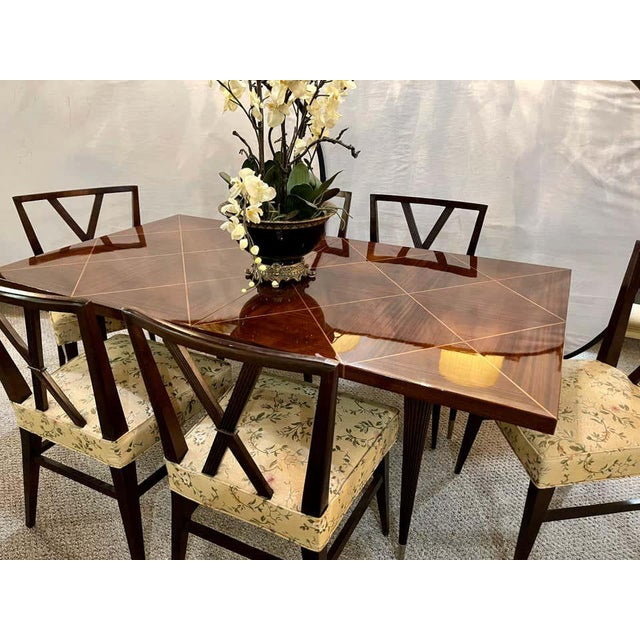 Brown A Tommi Parzinger Originals Dining Table Fully Refinished With Two Leaves For Sale - Image 8 of 13