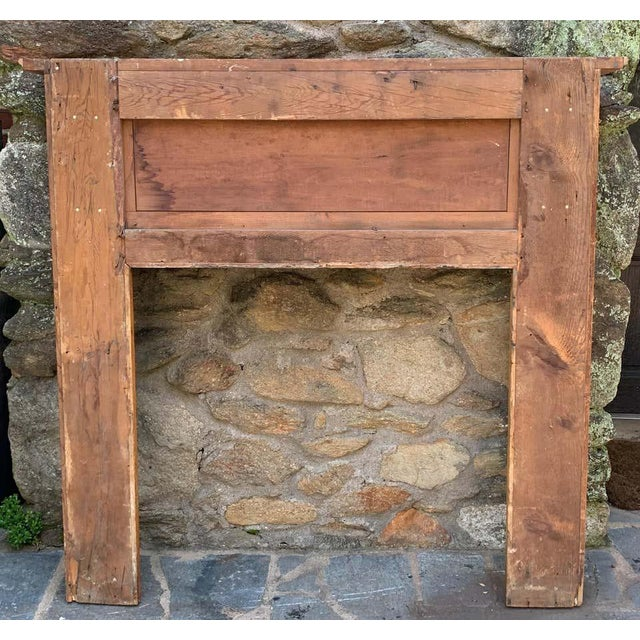 Early 19th Century Pine Fireplace Mantel For Sale - Image 12 of 13