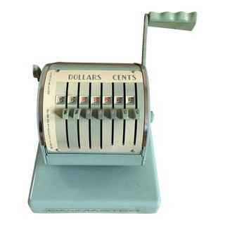 1960s Aqua Paymaster Check Writer