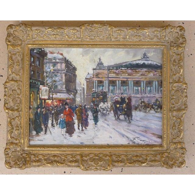 1950s Vintage Francois Gerome Parisian Scene Paintings - A Pair For Sale - Image 4 of 12