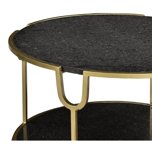 Rochester Black Marble Coffee Table