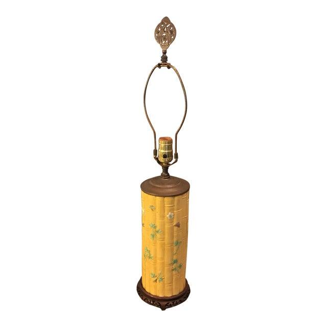 Asian Bamboo Motif Lamp - Image 1 of 11