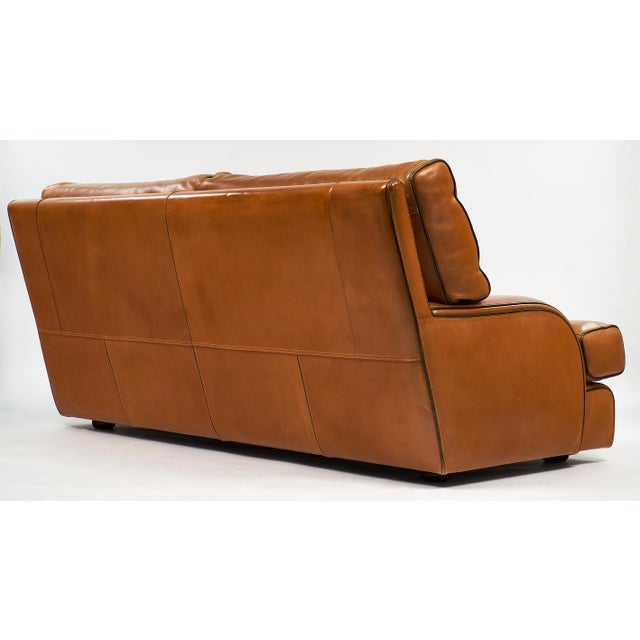 Tan Vintage Baxter Italian Leather Sofa For Sale - Image 8 of 10