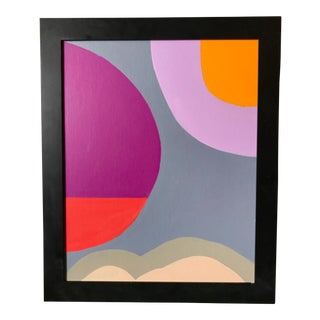 Framed Modern Abstract Painting For Sale