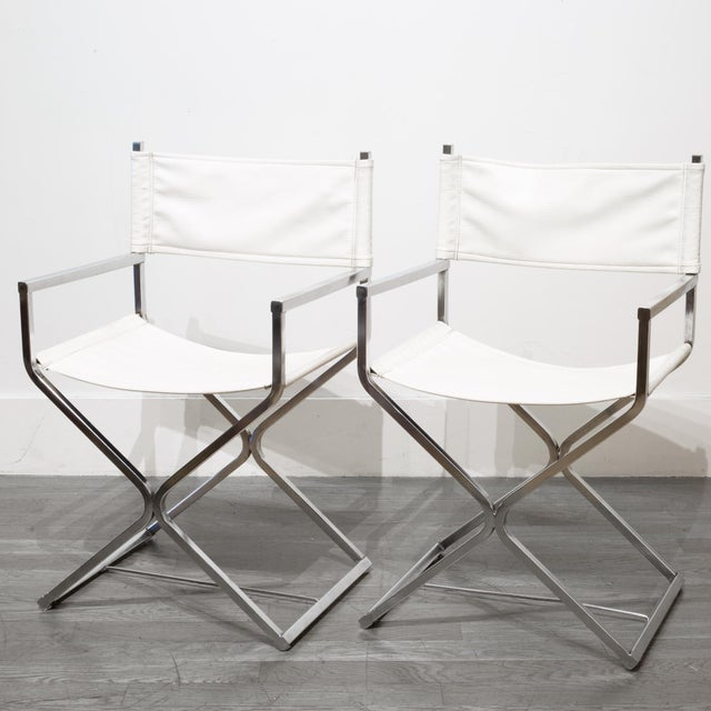 Metal Mid-Century Robert Kjer Jakobsen for Virtue Brothers Director Chairs C. 1960 For Sale - Image 7 of 7
