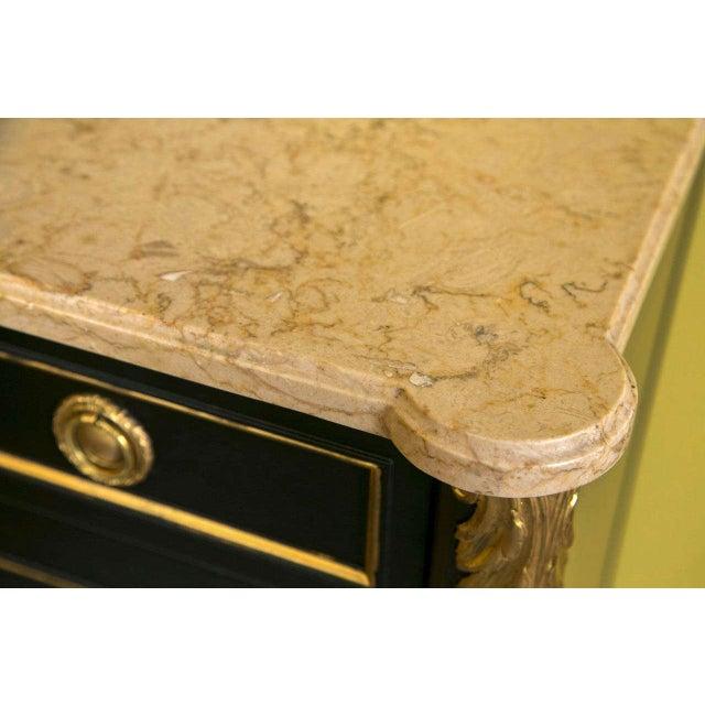 Maison Jansen Ebonized Marble-Top Commode - Image 10 of 10